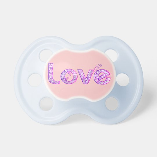 Pacifier with love