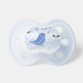 Pacifier with Sweet Singing Bluebird on a Branch