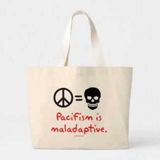 Pacifism is maladaptive jumbo tote bag