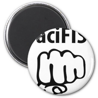 pacifist icon 2 inch round magnet