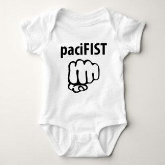 pacifist icon baby bodysuit