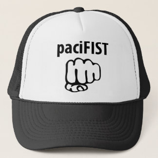 pacifist icon trucker hat