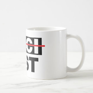 Pacifist with the fist coffee mug