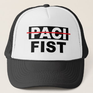 Pacifist with the fist trucker hat