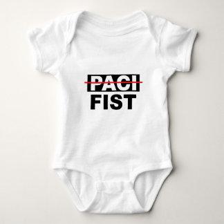 Pacifista con el puño body para bebé