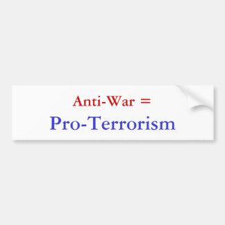 Pacifista =, Favorable-Terrorismo Pegatina Para Auto