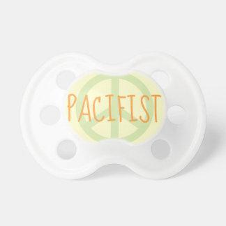 Pacifista - pacificador divertido del signo de la  chupete de bebe