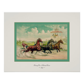 Pacing For A Grand Purse ~ 1890 ~ Fine Art Poster
