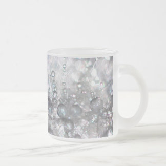 Pack crystal flower 10 oz frosted glass coffee mug