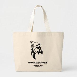 Pack de lobo Einkaufstasche Bolsa Tela Grande