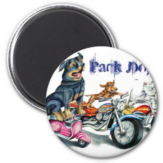 Pack Dogs 2 Inch Round Magnet