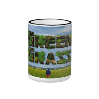 """Pack Fatty Green """"Alone in the Green """" Ringer Mug"""