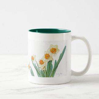 Pack Fleurs Jonquils Two-Tone Coffee Mug