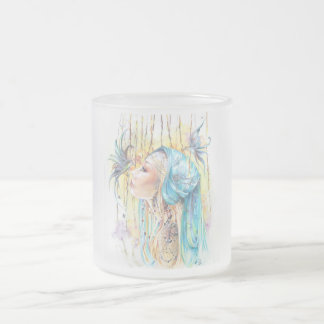 Pack frosted 10 oz frosted glass coffee mug