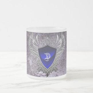 Pack glass frosted 180 ° blasonDamSalvatore 10 Oz Frosted Glass Coffee Mug
