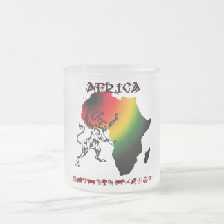 Pack glass frozen Africa 10 Oz Frosted Glass Coffee Mug