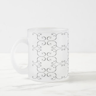 Pack glass frozen baroque 10 oz frosted glass coffee mug