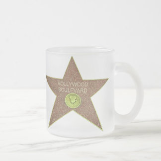 Pack glass frozen (mug frosted) Hollywood Bld 10 Oz Frosted Glass Coffee Mug