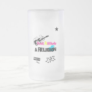 Pack glass frozen Punk attitude Frosted Glass Beer Mug