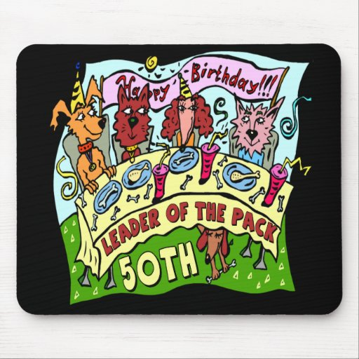 Pack leader 50th birthday mousepad zazzle for 50th birthday decoration packs