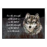 Pack Leader, Family Pack Strength Wolf Quote Card