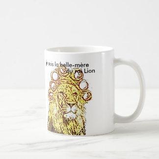 "pack ""lion-hair-curlers"" humour classic white coffee mug"