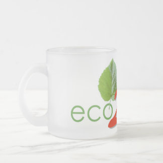 Pack logo eco- 2 wheels frosted glass coffee mug