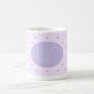 Pack mauve design classic white coffee mug