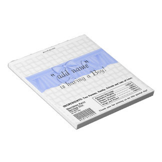 Pack of Baby Shower Candy Bar Wrapper Party Favor Notepad