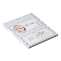 Pack of Baptism Candy Bar Wrapper Party Favor Gift Notepad