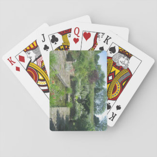 Pack of Playing Cards with Pond Picture