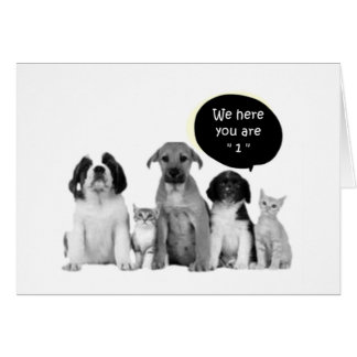 """PACK OF PUPPIES SAY HAPPY """"1st"""" BIRTHDAY Card"""