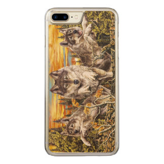 Pack of wolvesrunning carved iPhone 8 plus/7 plus case