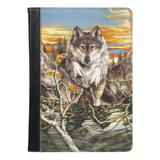 Pack of wolvesrunning iPad air case