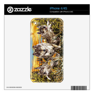 Pack of wolvesrunning skin for the iPhone 4S