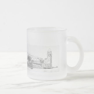 pack out of glass 10 oz frosted glass coffee mug