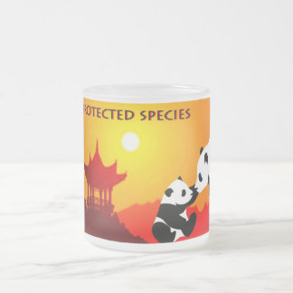 Pack protected species 10 oz frosted glass coffee mug