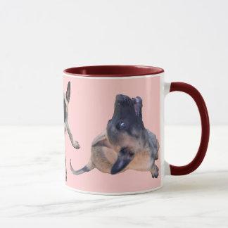 pack puppy malinois pink mug