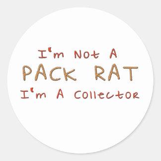 Pack Rat Classic Round Sticker
