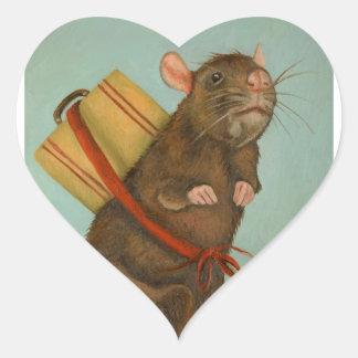 Pack Rat Heart Sticker