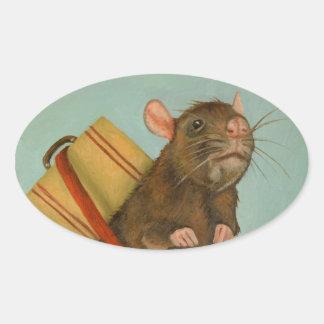 Pack Rat Oval Sticker