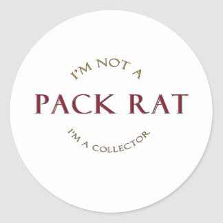 Pack Rat Products Classic Round Sticker