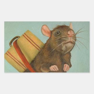 Pack Rat Rectangular Sticker