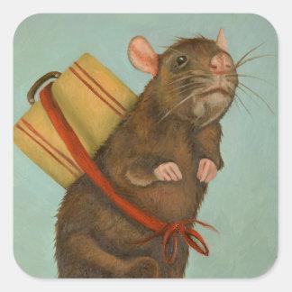 Pack Rat Square Sticker