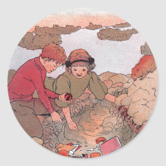 Pack Rat's Cache Unearthed Classic Round Sticker