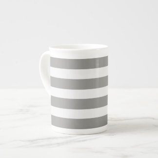 Pack striped gray and white-Cup stripe Gray and Tea Cup