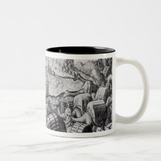 Pack Train of Llamas Laden with Silver Two-Tone Coffee Mug