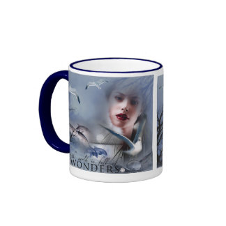 Pack with dolphins ringer coffee mug