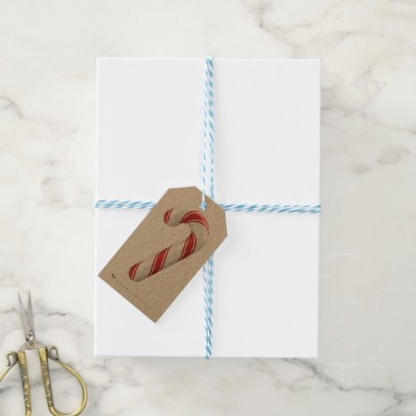Package Tag - Candy Cane Christmas Gift Tag