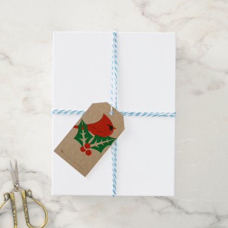 Package Tag- Christmas Cardinal Gift Tag
